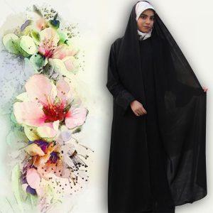 چادر شال دار مریمی حریرالاسود حجاب حدیث