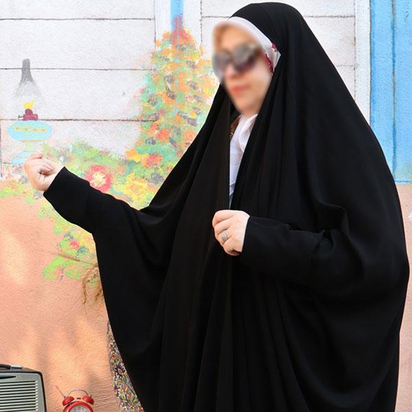 چادر صدفی کن کن ژرژت حجاب حدیث