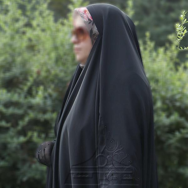 چادر عبا کن کن ندا گلدوزی5