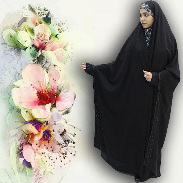 چادر مروارید کن کن ژرژت حجاب حدیث